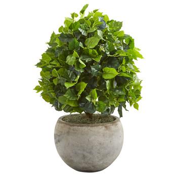 28 Ficus Artificial Tree in Bowl Planter - SKU #9095