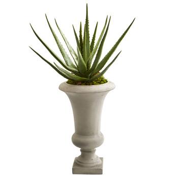 29 Aloe Artificial Plant in Urn - SKU #9098