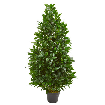 4 Bay Leaf Artificial Topiary Tree UV Resistant Indoor/Outdoor - SKU #9103