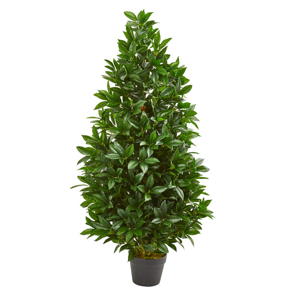 4 Bay Leaf Artificial Topiary Tree UV Resistant Indoor/Outdoor - SKU #9103