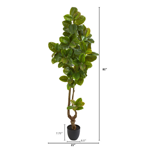 81 Rubber Leaf Artificial Tree Real Touch - SKU #9117 - 1