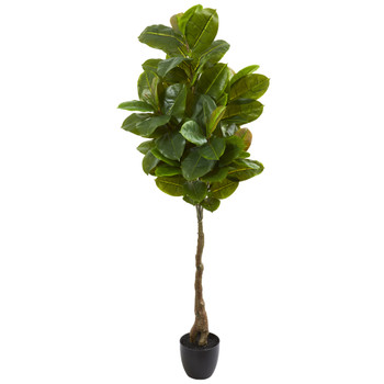 65 Rubber Leaf Artificial Tree Real Touch - SKU #9119