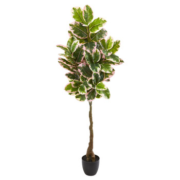 65 Rubber Leaf Artificial Tree Real Touch - SKU #9120