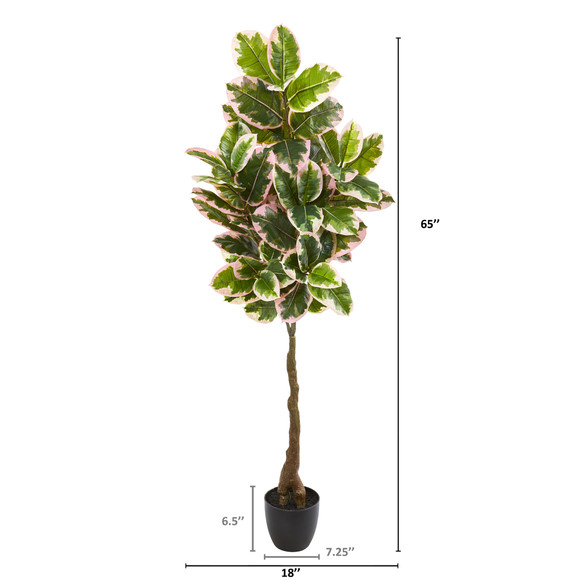 65 Rubber Leaf Artificial Tree Real Touch - SKU #9120 - 1