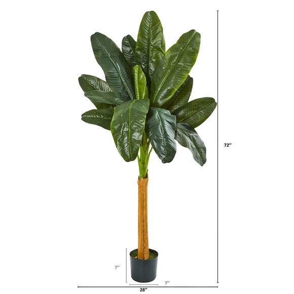 6 Banana Artificial Tree - SKU #9125 - 1