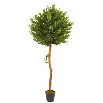 5.5 Olive Topiary Artificial Tree UV Resistant Indoor/Outdoor - SKU #9133
