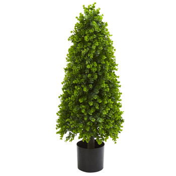 3 Eucalyptus Topiary Artificial Tree Indoor/Outdoor - SKU #9139