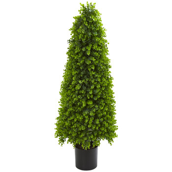 4 Eucalyptus Topiary Artificial Tree Indoor/Outdoor - SKU #9140