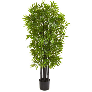 51 Bamboo Artificial Tree with Black Trunks UV Resistant Indoor/Outdoor - SKU #9144