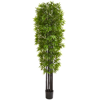 7 Bamboo Artificial Tree with Black Trunks UV Resistant Indoor/Outdoor - SKU #9145