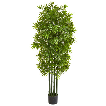 64 Bamboo Artificial Tree with Green Trunks UV Resistant Indoor/Outdoor - SKU #9146
