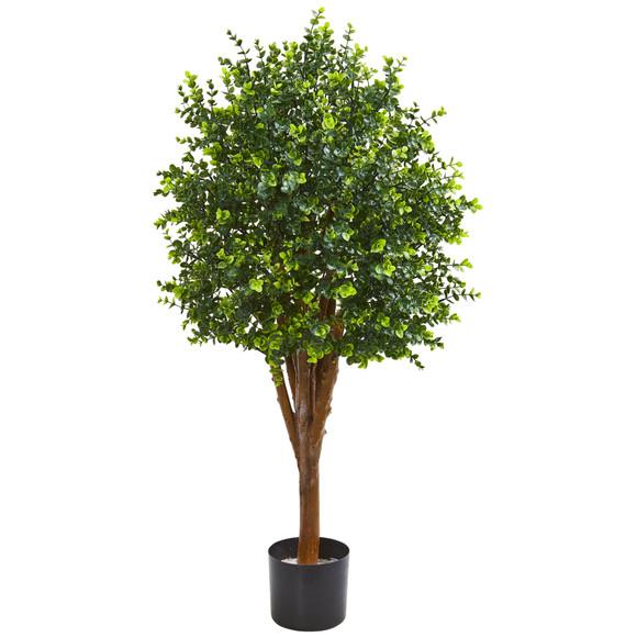 4 Eucalyptus Artificial Tree UV Resistant Indoor/Outdoor - SKU #9149