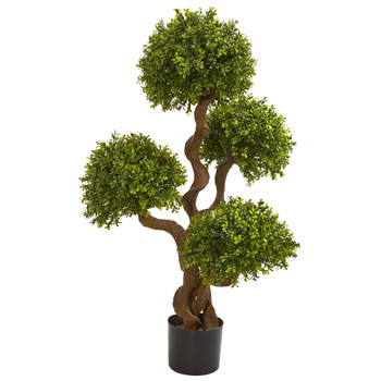 3.5 Four Ball Boxwood Artificial Topiary Tree - SKU #9159