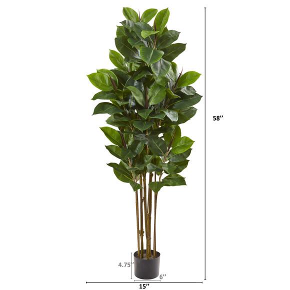 58 Rubber Leaf Artificial Tree - SKU #9175 - 1