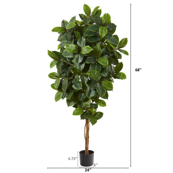 68 Rubber Leaf Artificial Tree - SKU #9176 - 1