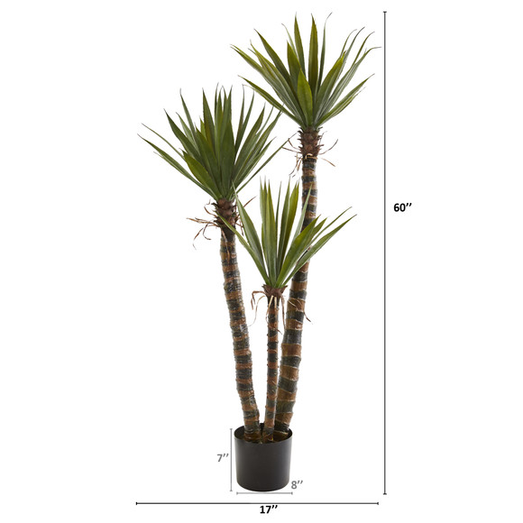 5 Yucca Artificial Tree - SKU #9179 - 1