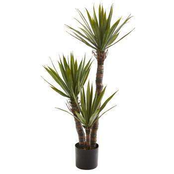4 Yucca Artificial Tree - SKU #9180