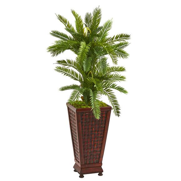 3.5 Double Cycas Artificial Plant in Decorative Planter - SKU #9203