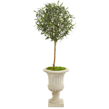 57 Olive Artificial Tree in Decorative Urn - SKU #9227