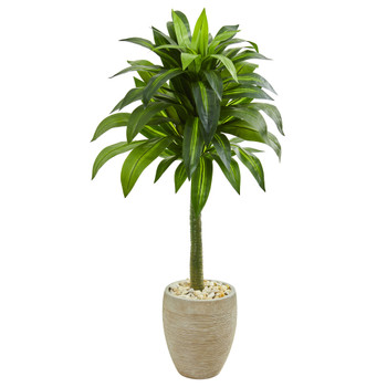 52 Dracaena Artificial Plant in Sand Colored Planter - SKU #9262