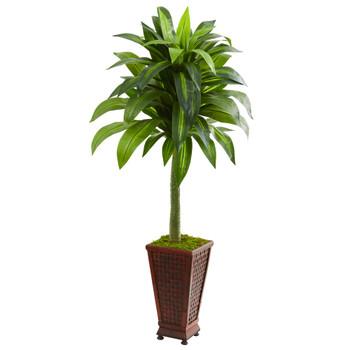 4.5 Dracaena Artificial Plant in Decorative Planter - SKU #9263
