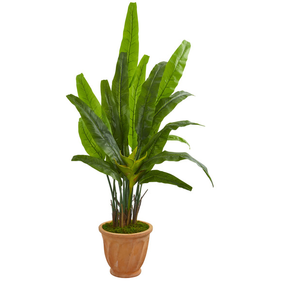 5 Travelers Palm Artificial Tree in Terra Cotta Planter - SKU #9270