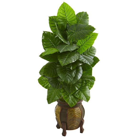 4.5 Taro Artificial Plant in Decorative Planter - SKU #9277