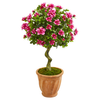 39 Azalea Artificial Topiary Tree in Terra Cotta Planter - SKU #9295