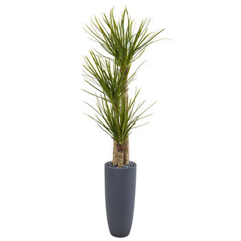 6 Yucca Artificial Tree in Bullet Planter - SKU #9301