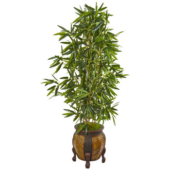5 Bamboo Artificial Tree in Decorative Planter Real Touch - SKU #9335