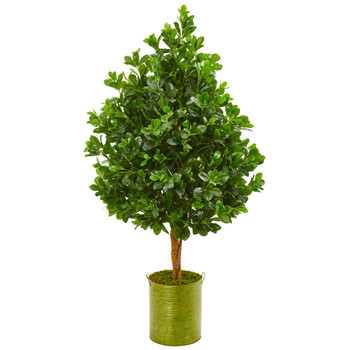 56 Evergreen Artificial Tree in Metal Planter - SKU #9373