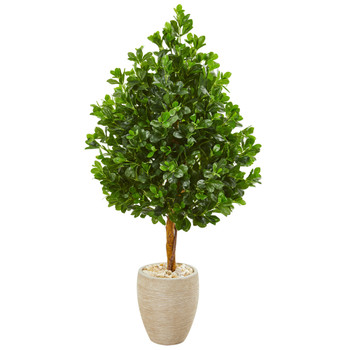 59 Evergreen Artificial Tree in Sand Finished Planter - SKU #9374