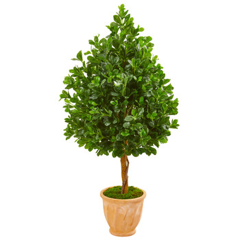 58 Evergreen Artificial Tree in Terra Cotta Planter - SKU #9376