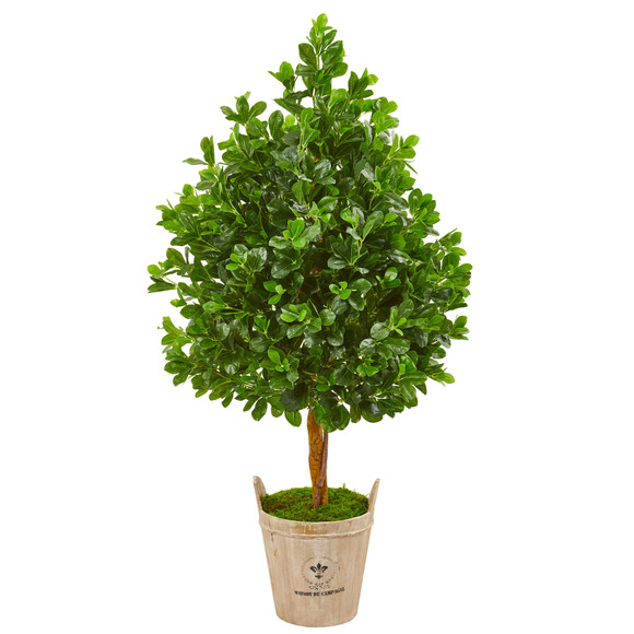 57 Evergreen Artificial Tree in Farmhouse Planter - SKU #9377