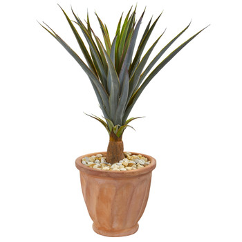 32 Agave Succulent Artificial Plant in Terra Cotta Planter - SKU #9437