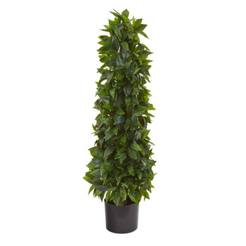 3 Sweet Bay Cone Topiary Artificial Tree - SKU #9454