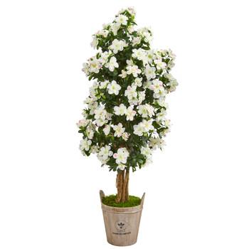 59 Azalea Artificial Tree in Farmhouse Planter - SKU #9458