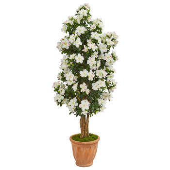 59 Azalea Artificial Tree in Terra Cotta Planter - SKU #9459