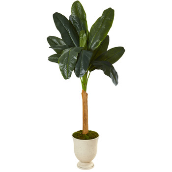 6 Banana Artificial Tree in Decorative Urn - SKU #9498