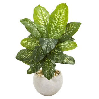 37 Dieffenbachia Artificial Plant in Bowl Planter Real Touch - SKU #9500