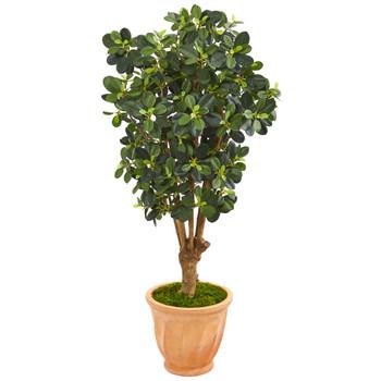 46 Panda Ficus Artificial Tree in Terra-Cotta Planter - SKU #9507