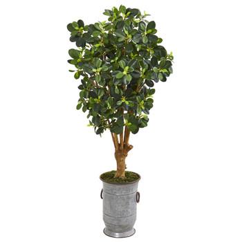 46 Panda Artificial Ficus Tree in Metal Urn - SKU #9509