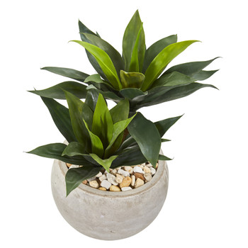 21 Agave Artificial Plant in Sand Colored Bowl - SKU #9515