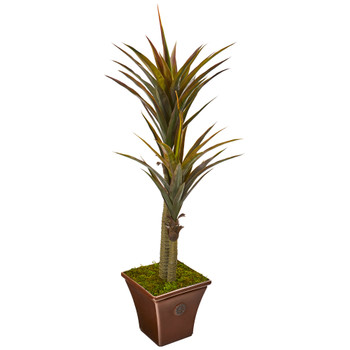 61 Yucca Artificial Tree in Planter - SKU #9525
