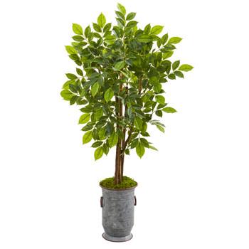 55 River Birch Artificial Tree in Decorative Planter - SKU #9532
