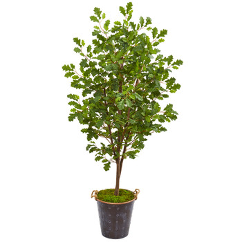 68 Oak Artificial Tree in Decorative Planter - SKU #9535