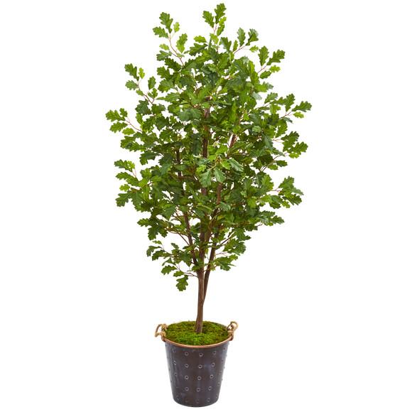 68 Oak Artificial Tree in Decorative Planter - SKU #9535