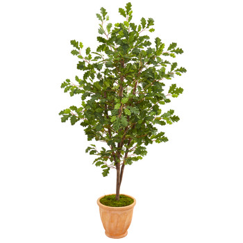 67 Oak Artificial Tree in Terra Cotta Planter - SKU #9536