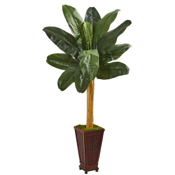 63 Banana Artificial Tree in Decorative Planter - SKU #9542