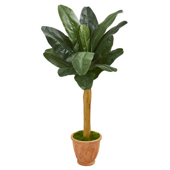 57 Banana Artificial Tree in Terra Cotta Planter - SKU #9543